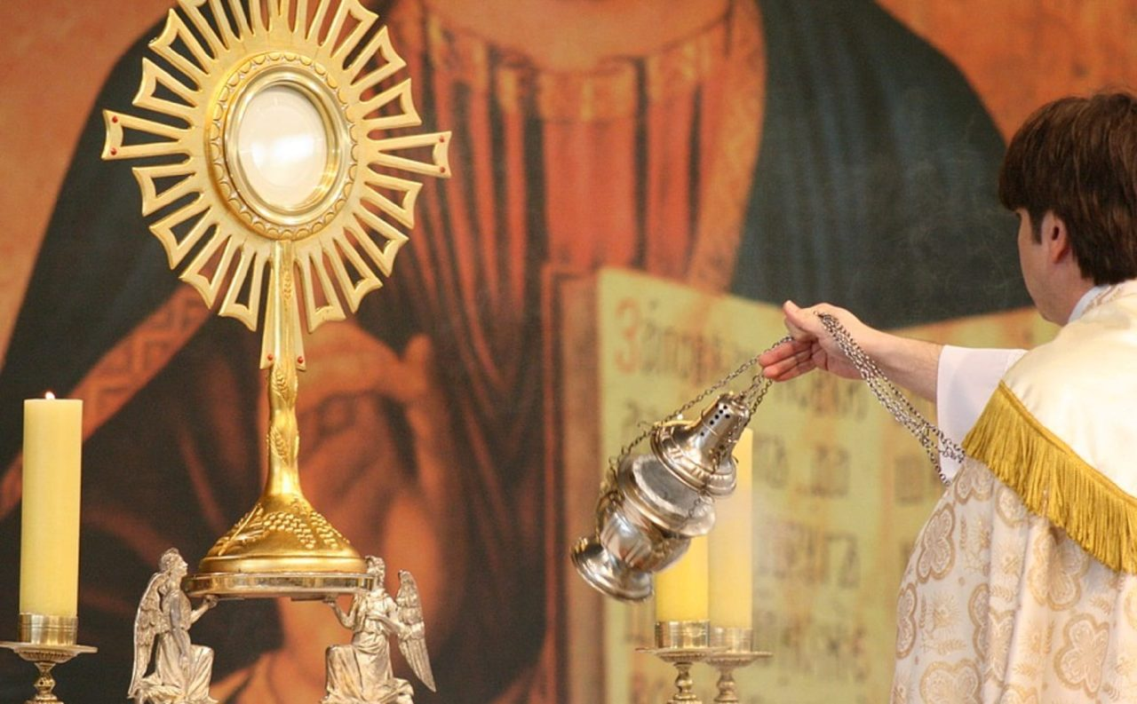 Is adoring our Lord in the tabernacle and adoring him exposed on the altar the same thing?